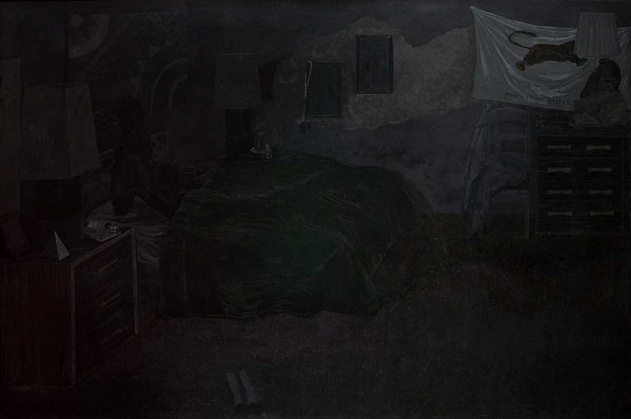 Black Painting, Kerry James Marshall, 2003, acrylic on fiberglass