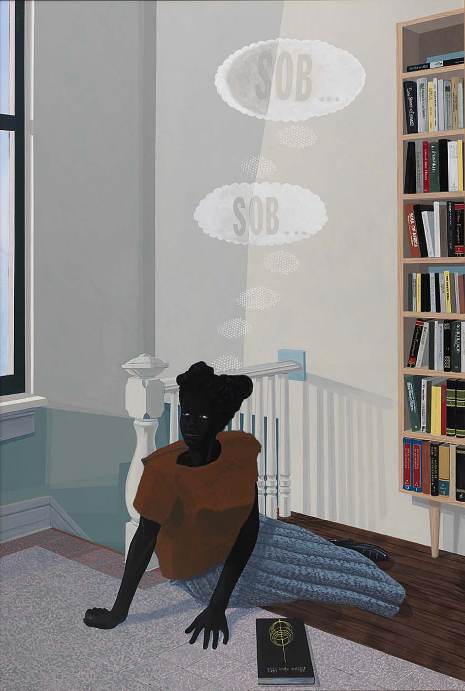 SOB, SOB, Kerry James Marshall, 2003, acrylic on fiberglass 108 x 72 inches