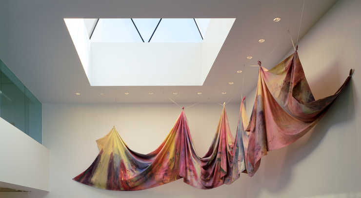 Carousel Merge, Sam Gilliam, 1971, acrylic on canvas, 120 x 900 inches