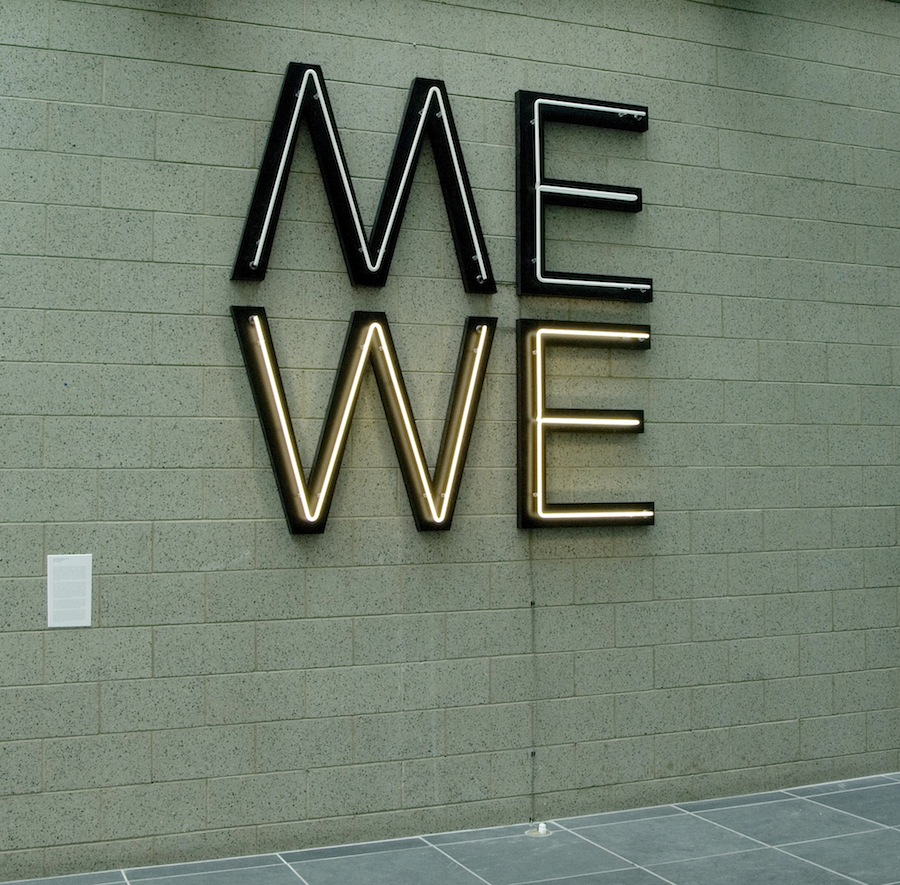 Give us a Poem (Palindrome #2), Glenn Ligon, 2007 as installed at the Studio Museum in Harlem