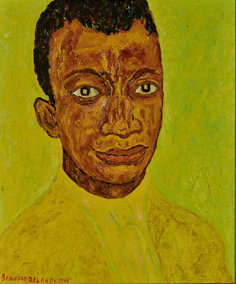 Beauford Delaney, Portrait of James Baldwin, 1965