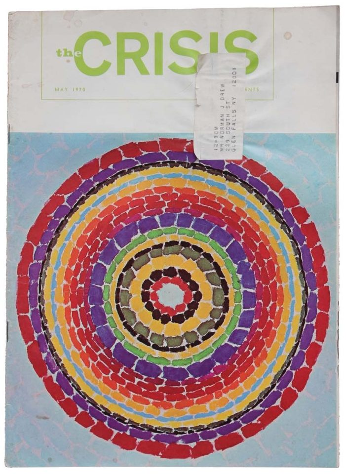 Alma Thomas, Spring - Delightful Flowerbed, 1967 on the cover of the NAACP's May 1970 issue of The Crisis