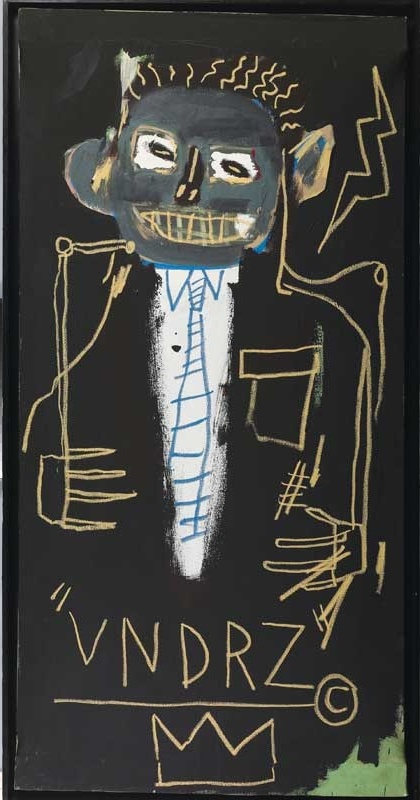 Jean-Michel Basquiat, Portrait of James VanDerZee, 1982