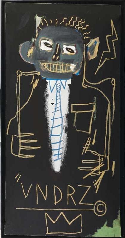 Jean-Michel Basquiat, Portrait of James VanDerZee, 1982