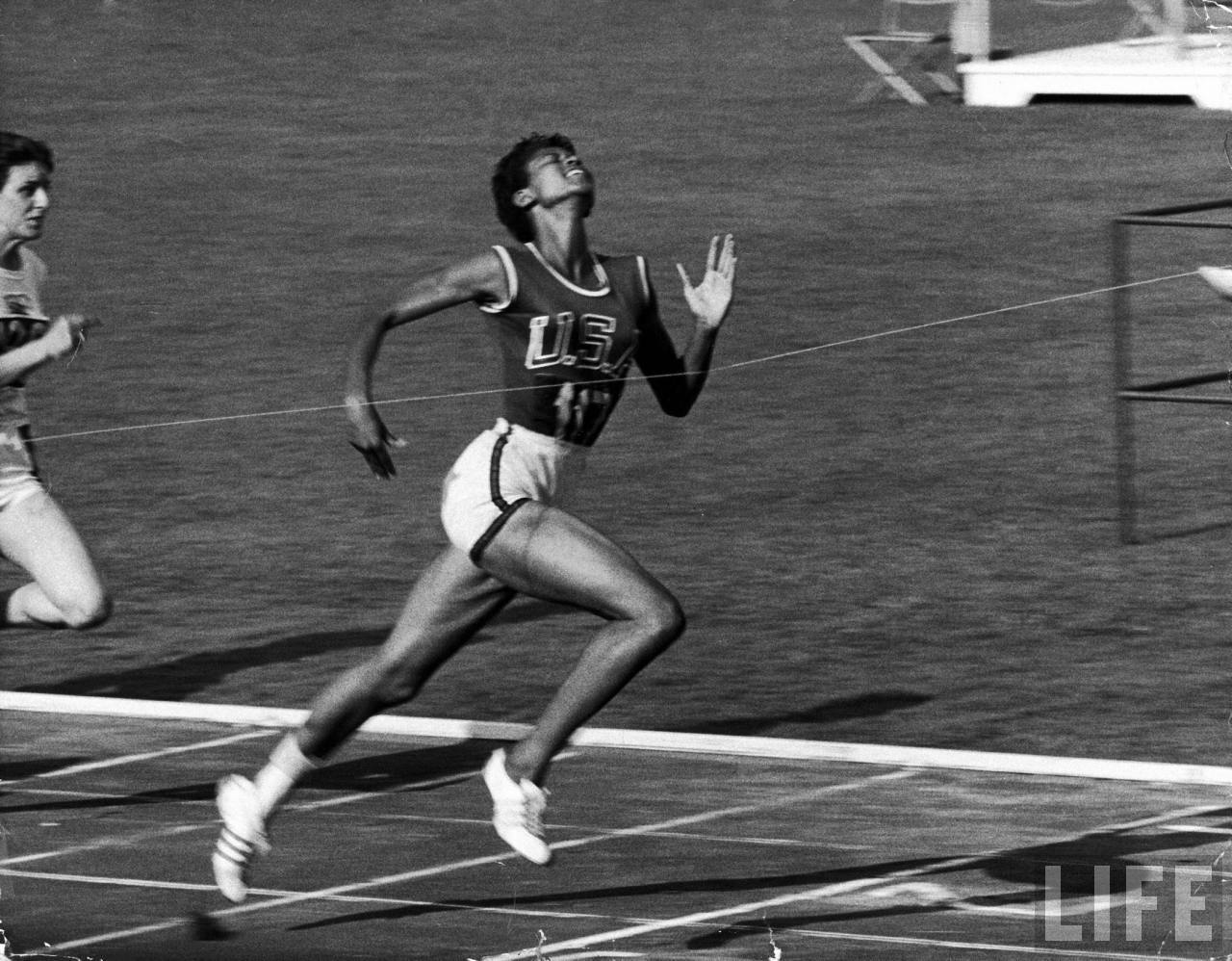 Wilma Rudolph wins 100 Yard Dash at the 1960 Rome Olympics